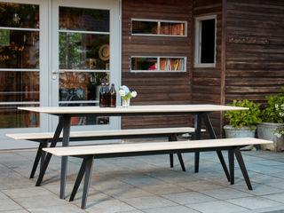 Bank und Tisch klappbar, für innen und außen aus Massivholz und Metall Neuvonfrisch - Möbel und Accessoires GartenMöbel Holz