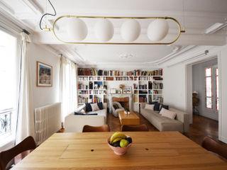 Appartement familial - Paris 10 / 100 m² A comme Archi Salon moderne Blanc