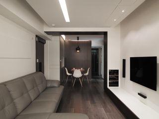 板橋周宅 形構設計 Morpho-Design 现代客厅設計點子、靈感 & 圖片