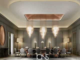 Enchanting Family Dining Room Interiors IONS DESIGN Eclectic style dining room Marble Grey
