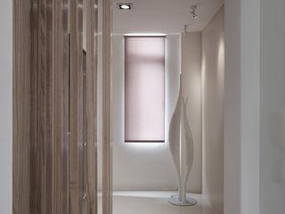 陶然居 形構設計 Morpho-Design 乡村风格的走廊,走廊和楼梯