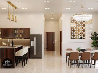 Thiết kế nội thất biệt thự vườn 1 tầng tại Long An NEOHouse KitchenAccessories & textiles