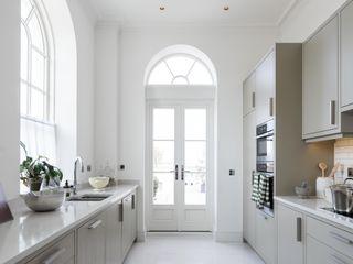 Aluminium Clad Wood Sash Window Project In Poundbury Marvin Windows and Doors UK Jendela kayu Parket White