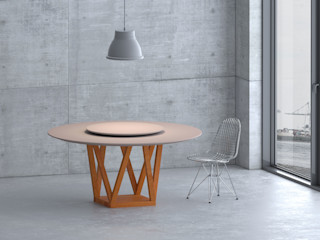 Tavolo effetto wow! Mobili a Colori Sala da pranzo moderna Legno massello Variopinto
