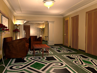 Progetto di Restyling di un Hotel a Roma ARTE DELL'ABITARE Hotel in stile classico Marmo