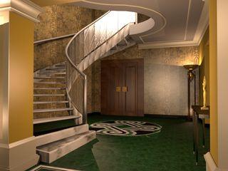 Progetto di Restyling di un Hotel a Roma ARTE DELL'ABITARE Hotel in stile eclettico Alluminio / Zinco