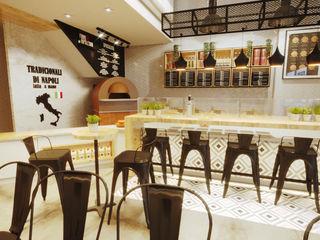 PROJETO PIZZARIA - FORNO NAPOLETANO Gelker Ribeiro Arquitetura | Arquiteto Rio de Janeiro Escritórios modernos Derivados de madeira Efeito de madeira