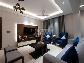 The Workroom Modern living room Grey