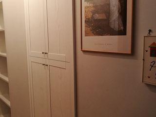 Arredamenti Personalizzati di Qualità in Legno Esclusivamente su Misura Falegnameria Conca Ingresso, Corridoio & ScalePortabiti & Guardaroba Legno Bianco
