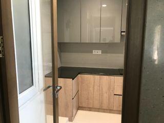 classicspaceinterior KitchenCabinets & shelves Plywood Grey
