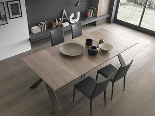 Consolle design che diventa tavolo da 12 persone! Mobili a Colori Sala da pranzo moderna Legno composito Effetto legno