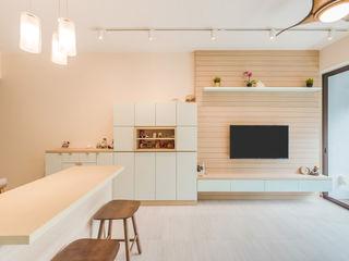 DAP Atelier Salas de estilo escandinavo Madera Multicolor