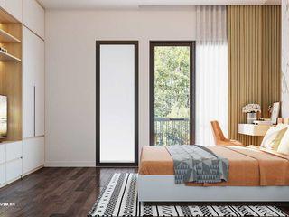 Mẫu thiết kế nội thất nhà phố hiện đại cao cấp 2019 NEOHouse BedroomAccessories & decoration