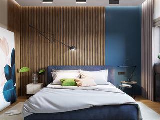 Минимализм с элементами лофта «Студия 3.14» Спальня в стиле минимализм