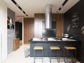 Минимализм с элементами лофта «Студия 3.14» Встроенные кухни