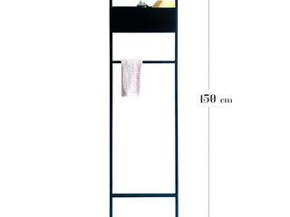 Scala porta salviette da bagno: funzionalità e design made in italy Idearredobagno.it BagnoTessuti & Accessori Metallo Nero