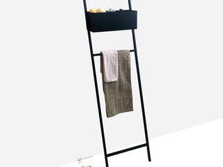 Scala porta salviette da bagno: funzionalità e design made in italy Idearredobagno.it BagnoContenitori Nero