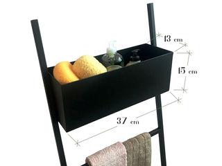 Scala porta salviette da bagno: funzionalità e design made in italy Idearredobagno.it BagnoContenitori Metallo Nero