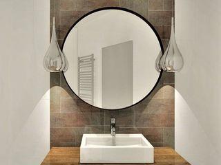 Wkwadrat Architekt Wnętrz Toruń Rustic style bathroom Copper/Bronze/Brass White