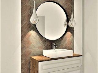 Wkwadrat Architekt Wnętrz Toruń Colonial style bathroom Copper/Bronze/Brass Brown