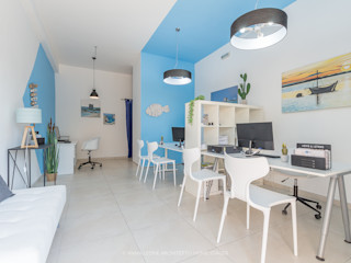 Anna Leone Architetto Home Stager Mediterranean style offices & stores Turquoise