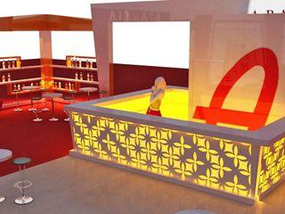 Kalya İç Mimarlık \ Kalya Interıor Desıgn Centros de exposições modernos Madeira Laranja