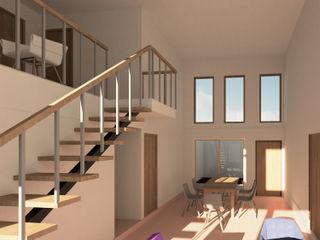 Contreras Arquitecto Salones de estilo minimalista