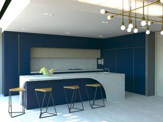 Kalya İç Mimarlık \ Kalya Interıor Desıgn Cozinhas embutidas Madeira Azul