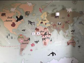 Carta da parati, nostre realizzazioni. L&M design di Marelli Cinzia Camera da letto moderna Turchese