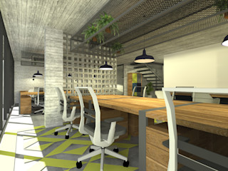 DE LEON PRO Bangunan Kantor Gaya Industrial Beton