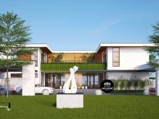 Mẫu thiết kế biệt thự 2 tầng kết hợp kinh doanh cafe tại Tây Ninh NEOHouse