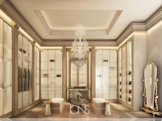 Exceptional Walk-in Closet Interiors IONS DESIGN Colonial style dressing rooms Copper/Bronze/Brass Amber/Gold