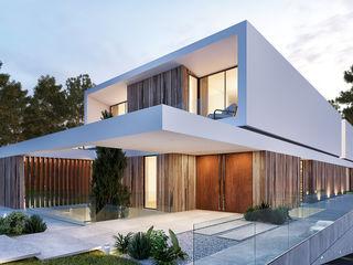 CASA CC1- Moradia na Quinta do Peru - Projeto de Arquitetura Traçado Regulador. Lda Casas modernas Madeira Branco