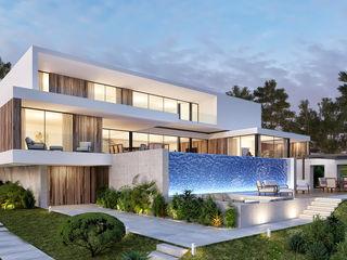 CASA CC1- Moradia na Quinta do Peru - Projeto de Arquitetura Traçado Regulador. Lda Moradias Madeira Branco