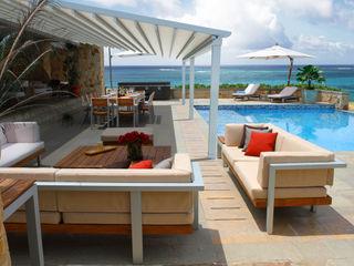 Parasoles Tropicales - Arquitectura Exterior Moderne Ladenflächen Aluminium/Zink