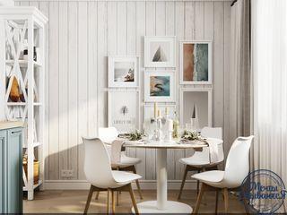 Компания архитекторов Латышевых 'Мечты сбываются' Cozinhas minimalistas