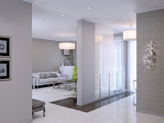 Wide Design Group Couloir, entrée, escaliers classiques