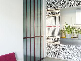 Loft PR Manuela Tognoli Architettura Soggiorno in stile industriale