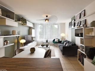 Décoration d'un appartement à Lyon Tiffany FAYOLLE Salle à manger moderne Vert