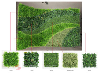 Customized Design Artificial HEDGES WALL Sunwing Industries Ltd Commercial Spaces Plastic Green