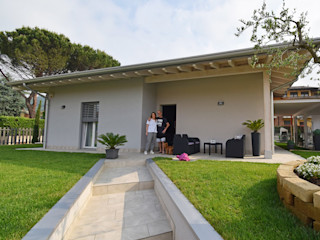 Villa in legno a Scanzorosciate (Bergamo) Marlegno Casa di legno Legno