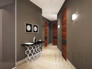 Дизайн студия 'Хороший интерьер' Couloir, entrée, escaliers modernes