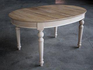 Tavoli ovali stile inglese country chic Mobili a Colori Sala da pranzo rurale Legno massello Effetto legno