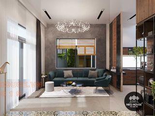 Thiết kế thi công nội thất biệt thự phố 3 tầng tại quận 12 NEOHouse Living roomAccessories & decoration