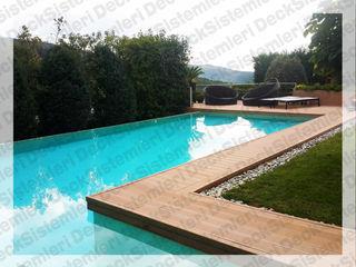 Deck Sistemleri Piscinas de estilo moderno Compuestos de madera y plástico Acabado en madera