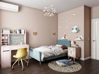Индустриальный кантри «Студия 3.14» Детская комнатa в стиле кантри