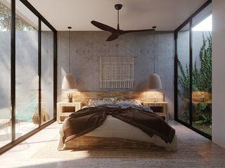I&O GROUP Small bedroom Бетон Синій