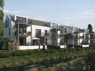 Mühlanger 22 24: Exklusive Wohnungen in Dinkelscherben bei Augsburg ECOLINE Holzsystembau GmbH & Co. KG Moderne Häuser