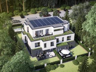 Wohnen in München mit hohem Naherholungs-Faktor ECOLINE Holzsystembau GmbH & Co. KG Mehrfamilienhaus