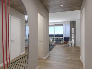 Progetto d'Interni Attico studiosagitair Ingresso, Corridoio & Scale in stile moderno